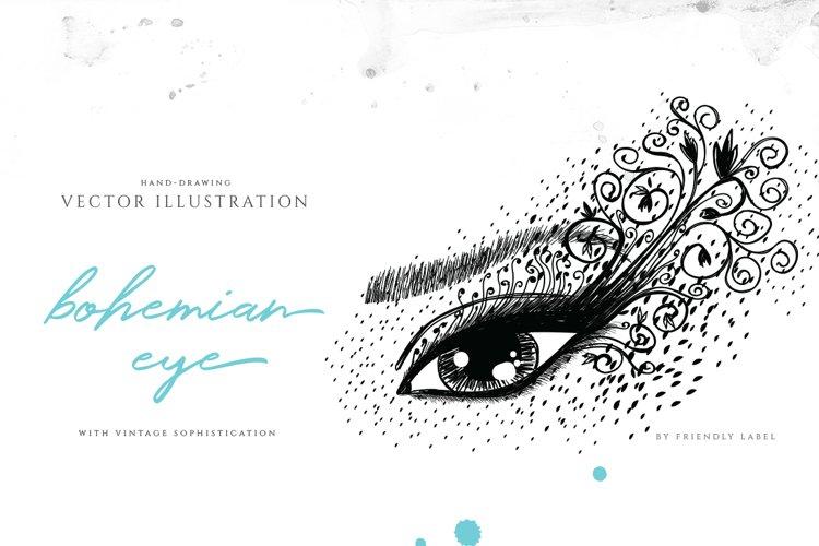 Bohemian Eye Illustration