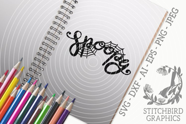 Spoopy SVG, Silhouette Studio, Cricut, Eps, Dxf, Jpeg, Png example image 1