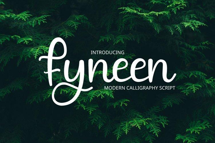 Fyneen Modrn calligrapy example image 1
