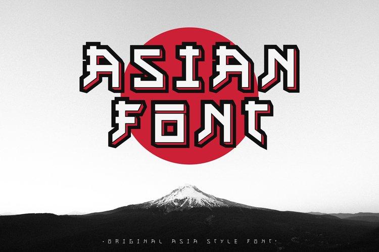 Asian font / japanese style / handmade font.