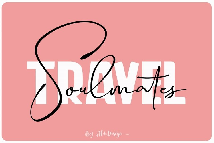 Travel Soulmates // Font Duo - WEB FONT example image 1