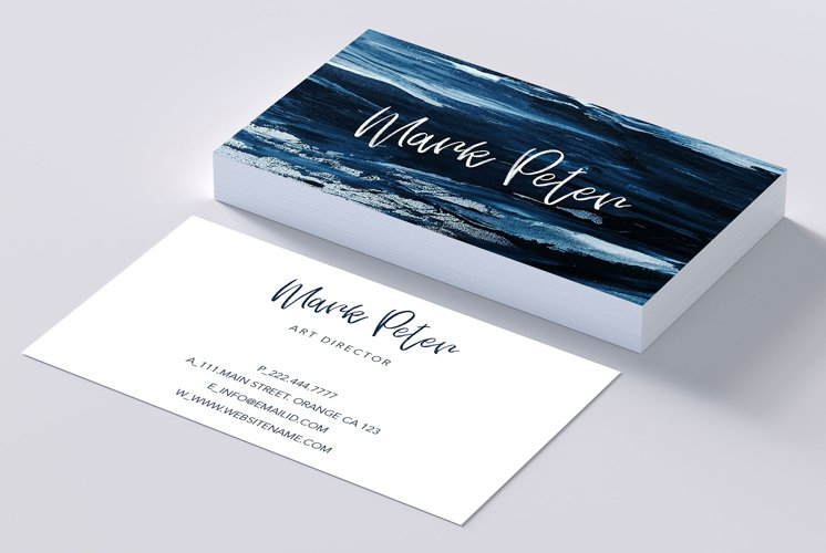 Art canvas effects business card example image 1