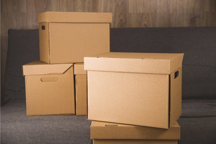 Craft boxes for collecting things and moving.