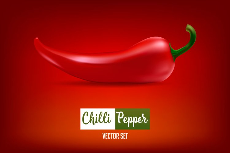 Chilli pepper - vector set . example image 1