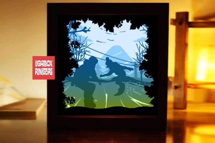 #213 Snow Board. sport sky, 3d paperlightbox example image 1