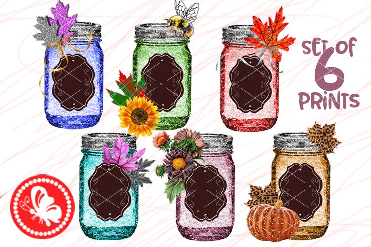 Bundle Mason Jar crafts Personalozed Sublimation designs Png example image 1