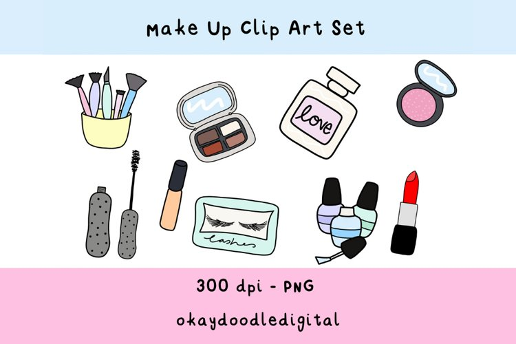 Make Up Clipart - Digital Scrapbooking Elements