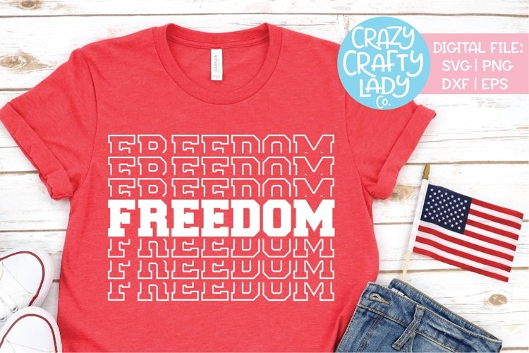 Freedom July 4th Military SVG DXF EPS PNG Cut File