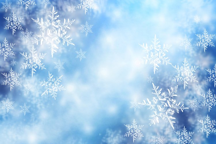 New Year and Christmas blurred soft card with snowflakes. example image 1