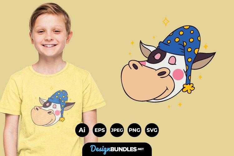 animal sleeping cap for T-Shirt Design example image 1