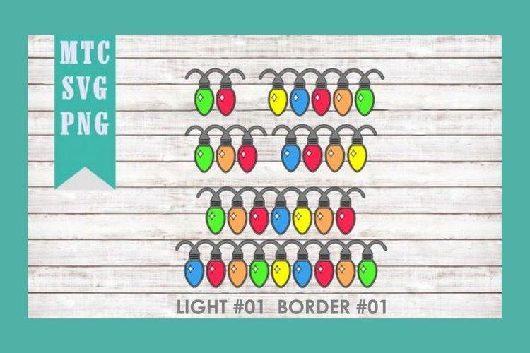 Christmas Light #01 BORDER 01 SVG Cut File Bundle
