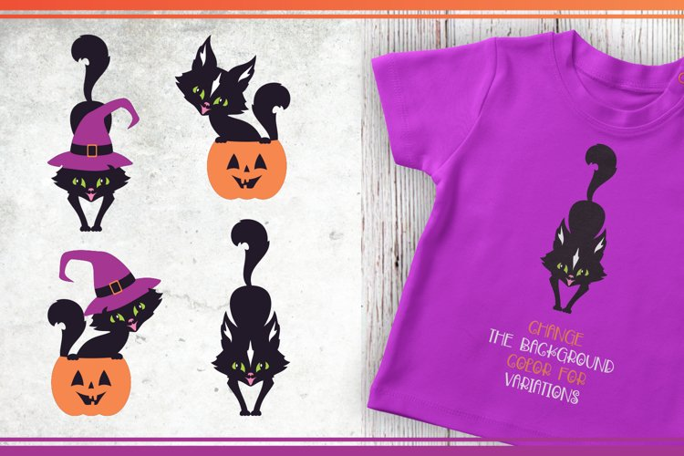 Black cats. Halloween clip art example 3