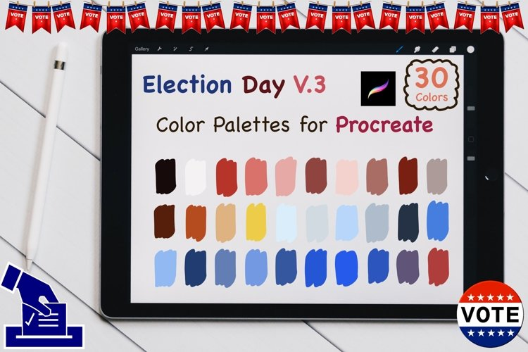 Color Palettes set for Procreate - US election V3 example image 1