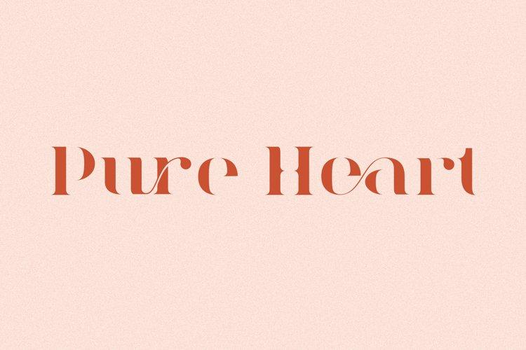 Pure Heart - Serif Font example image 1
