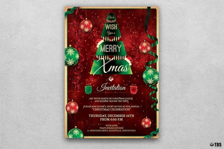 Christmas Invitation Template V7 example image 1