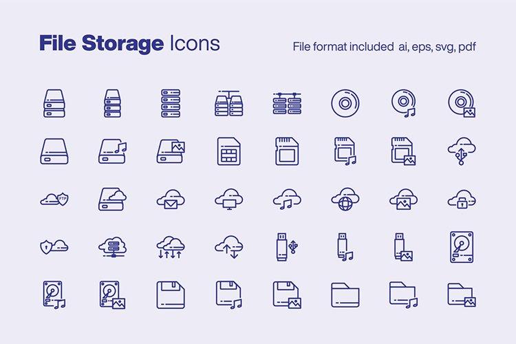 File Storage 40 Icons