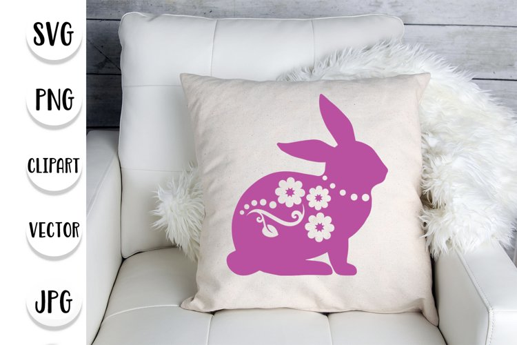 Easter Bunny with ornaments svg - Easter home decoration