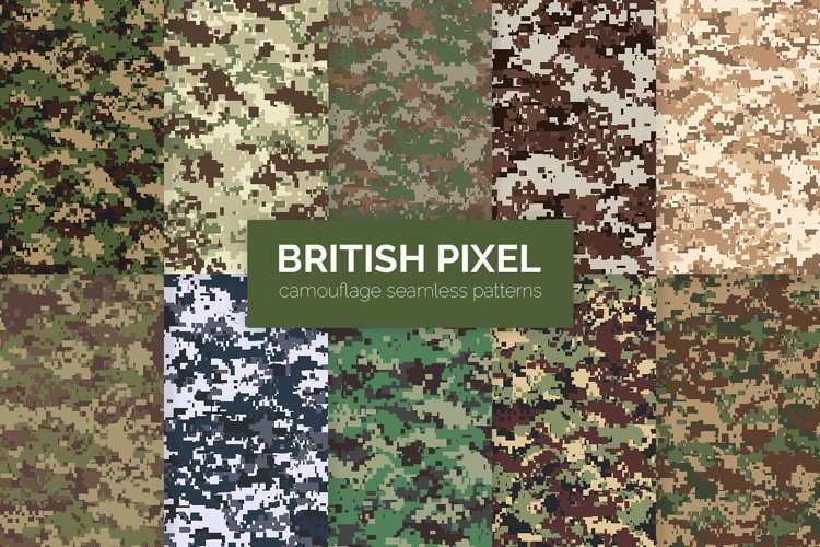 British Pixel Camouflage Patterns example image 1