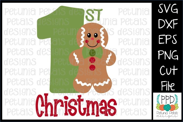 Gingerbread Boy First Christmas SVG 11185