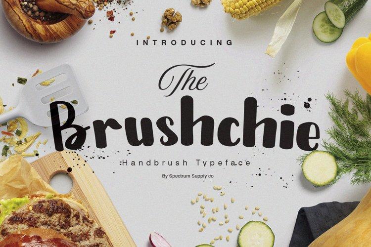 Bruschie Handbrush Typeface