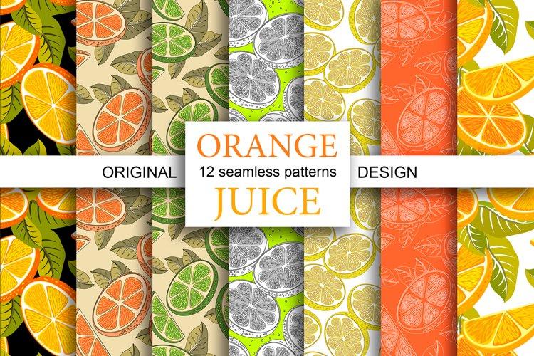 Orange juice patterns and frames
