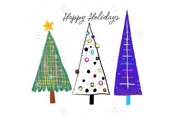 Merry Christmas Yall, Pine Tree Silhouette example image 1