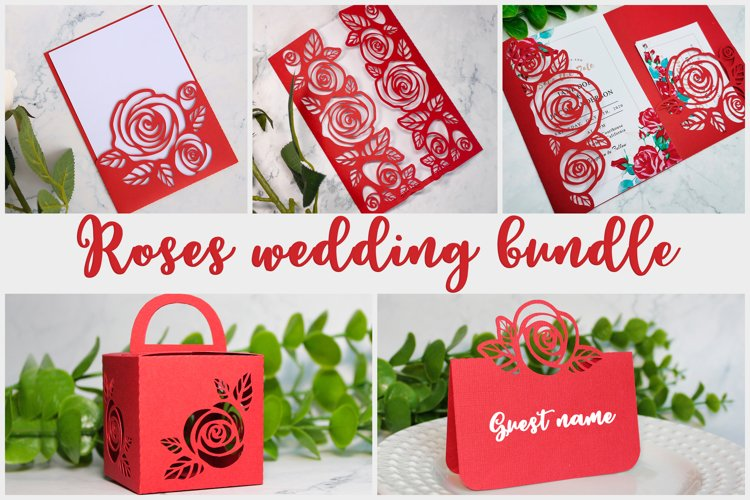 Roses wedding bundle svg