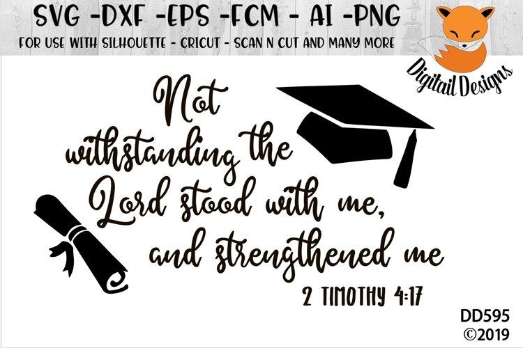 2 Timothy 4-17 Graduation SVG example image 1