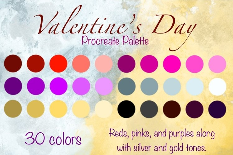 Procreate Valentine Palette - 30 swatches for the holiday