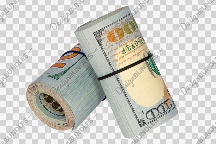 Roll of money isolated on white background example image 1