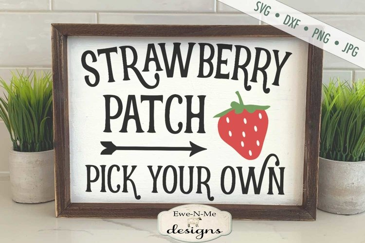 Strawberry Patch | Pick Your Own | Summer SVG example image 1