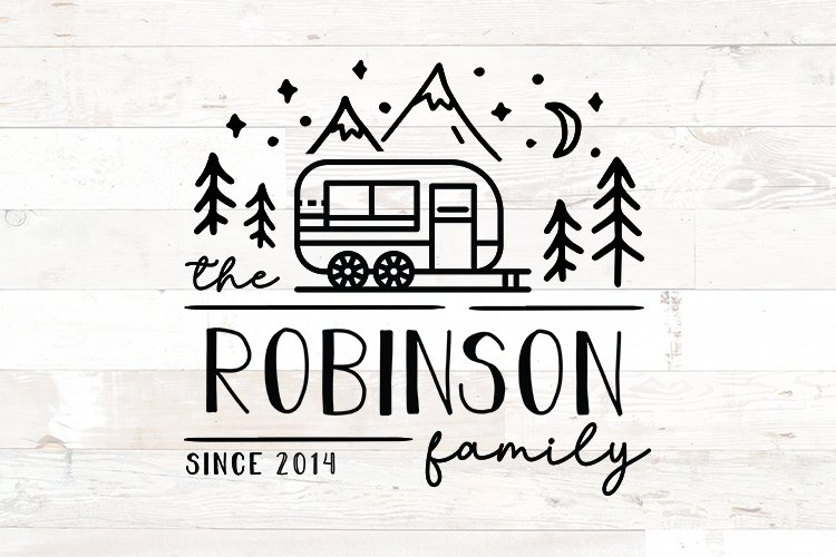 Family Name Sign RV Camper Camping Last Name example image 1