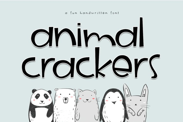 Animal Crackers - A Fun Handwritten Font example image 1
