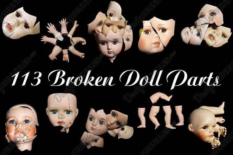113 Broken Halloween Horror Doll Parts Photographs by Squeeb Creative