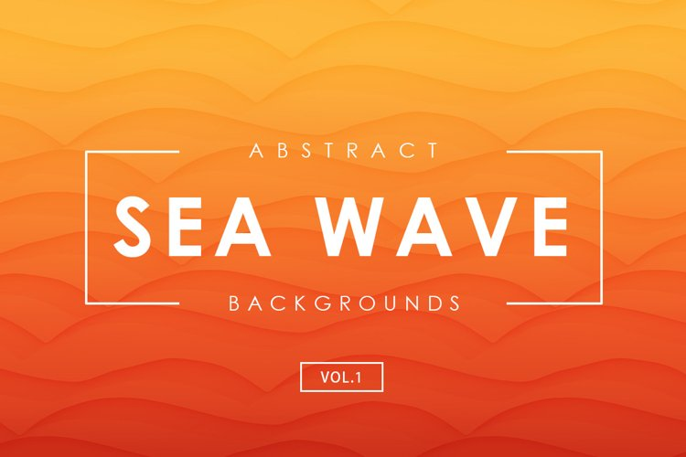 Sea Wave Abstract Backgrounds 1 example image 1