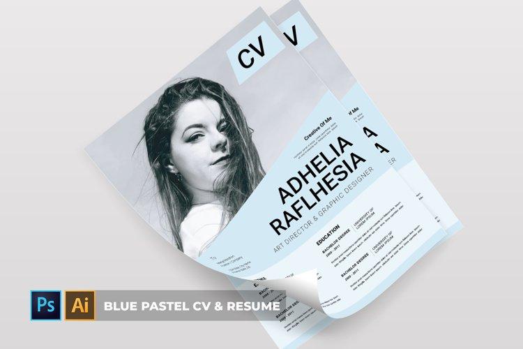 Blue Pastel | CV & Resume example image 1
