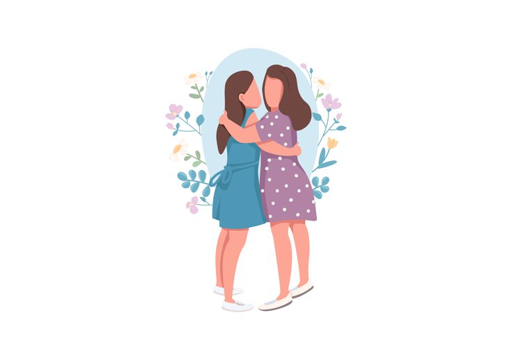 Lesbian couple flat concept vector illustration example image 1