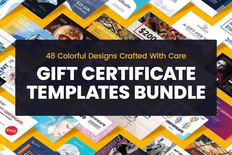 Gift Certificate Template Bundle SALE