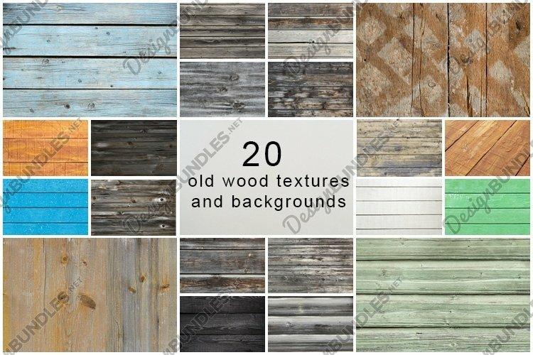 Old wood texture. Weathered wood background bundle