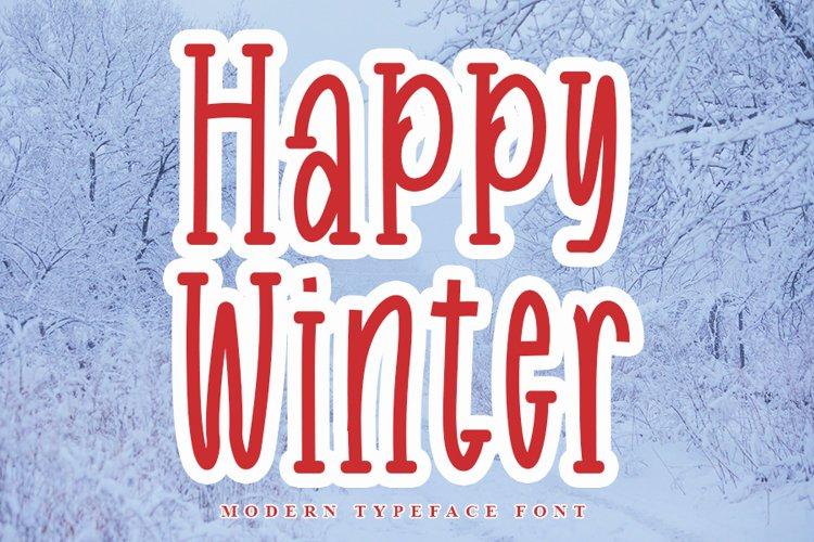 Happy Winter - Modern Handwritten Font example image 1
