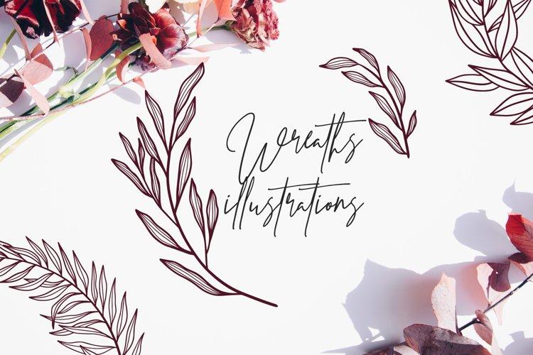 70 Wreath illustrations example image 1
