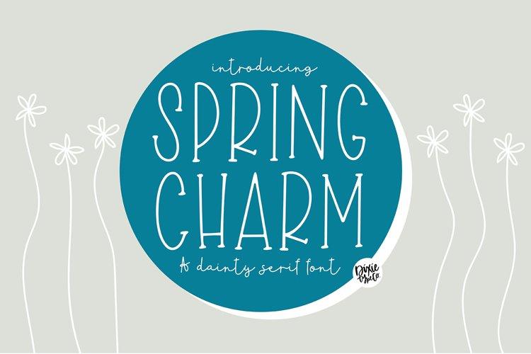 SPRING CHARM Dainty Serif Font