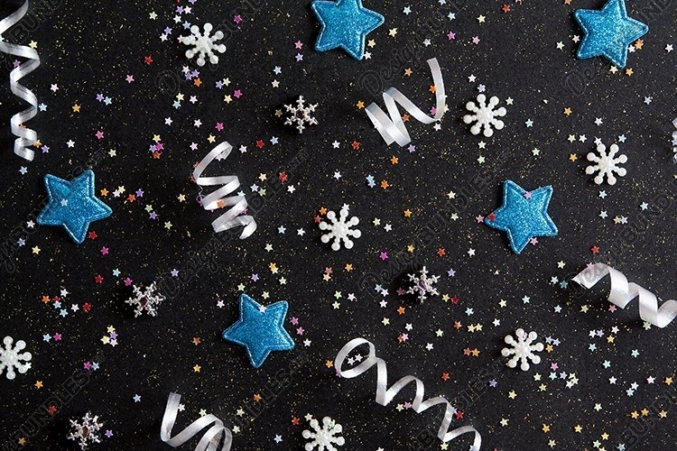 Christmas layout background with stars example image 1