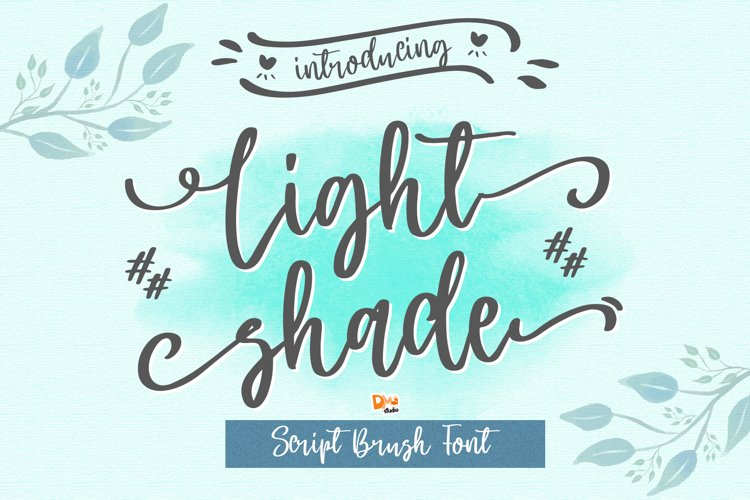 Light Shade - Beauty Script Brush Font example image 1