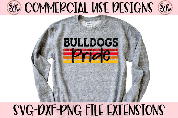 Bulldogs Pride SVG DXF PNG example image 1