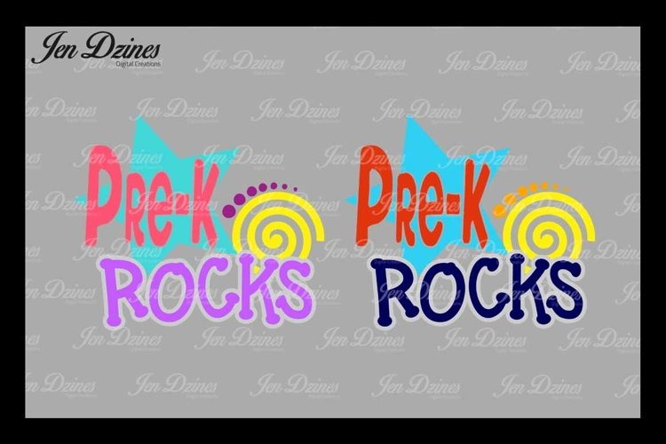 PreK Rocks SVG DXF EPS PNG example image 1
