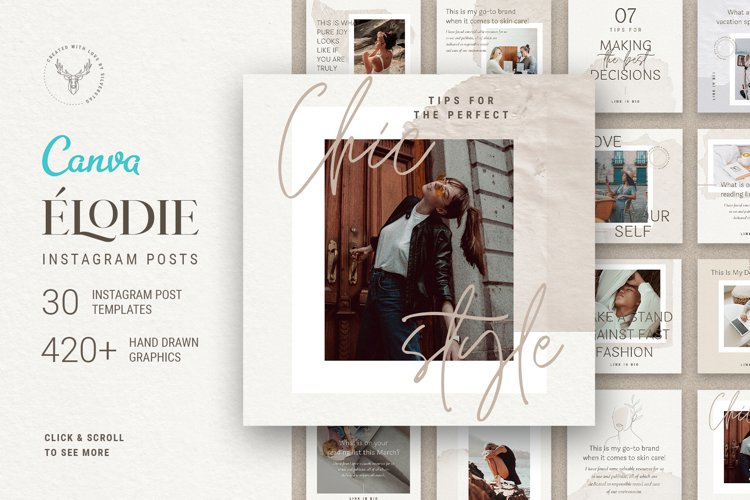 Elodie - 30 Canva Instagram Post Templates example image 1
