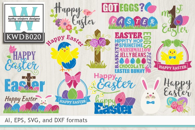 BUNDLED Easter Cutting Files KWDB020