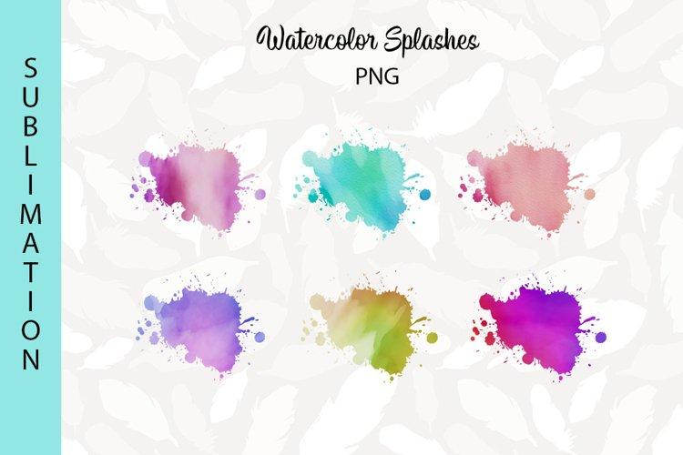 Sublimation Backgrounds | Watercolor Splashes