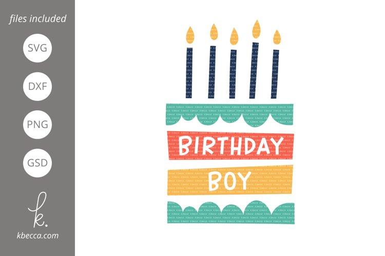 Birthday Boy Cake SVG example image 1